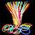 PULSEIRA NEON - 100 UNIDADES - BRILHAM NO ESCURO - GLOW STICK - Imagem 1