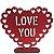 DECORAÇÃO MDF - LOVE YOU - CORAÇÃO - VERMELHO - EVA COM GLITTER - 01 UNIDADE - 17 X 19 CM - MAKE FESTAS - Imagem 1
