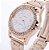 Relógio de pulso feminino Strass Grandes Números - Luxo Cristal - Imagem 1