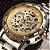 Relógio esqueleto Winner - modelo Skeleton Suiço W1507 - Imagem 4