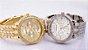 Relógio De Pulso Feminino Geneva Strass Luxury - Gold, Rose e Prata - Imagem 4