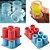 Formas de Silicone para gelo e chocolate Copo ice shot/ Faz 4 Shots - Imagem 1