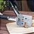 Jogo de churrasco 5 Peças - Espátula, pegador, escova, garfo e pincel - Imagem 4
