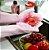 Par de Luvas de limpeza doméstica com Esponja de Silicone Antibacteriana - Imagem 1