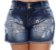 Shorts Jeans Plus Size Monaliza - Imagem 1