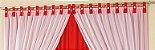 Cortina Botony 3,00m X 2,80m 180 Fios Varão Simples Vermelho - Imagem 2