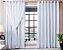 Cortina Corta Luz 100% Blackout Com Voil Para Sala ou Quarto 3,00M x 2,50M Branco Para Varão Simples - Imagem 1