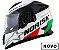 CAPACETE NORISK FF302 GRAND PRIX ( ITALIA ) COM VISEIRA INTERNA - LANÇAMENTO ! - Imagem 1