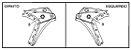 EMBLEMA ( DIAPASÃO YAMAHA ) DA TAMPA 1 XT250Z TÉNÉRÉ E YS250 FAZER 250 ORIGINAL YAMAHA - Imagem 3