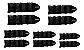 Kit Tornozeleira Enforce - 1kg -2kg-3kg-4kg- 5kg - Imagem 2