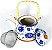 Chaleira Bule de Porcelana c/ Infusor e Alça 600 ml - Imagem 1