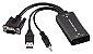 Conversor Vga M X Hdmi F C/ Audio Multilaser - WI280 - Imagem 1