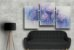 Quadro Decorativo Abstrato Triplo 60x126 QDT10 - Imagem 2