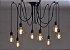 Lustre Para 10 Lâmpadas Pendente Preto - Thomas Edison - Imagem 2