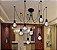 Lustre Com 8 Aramado Lâmpadas Pendente Preto - Thomas Edison - Imagem 2