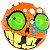 Cubo Mágico 2x2x2 Mad Hedz - Crazy Skull (Laranja) - Imagem 2