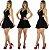 Vestido curto cintura marcada Princesa Panicat  - Imagem 1