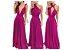 Vestido de festa Rosa Pink Longo madrinha casamento Formatura - Imagem 1
