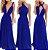 Vestido de festa Azul Royal Longo madrinha casamento Formatura - Imagem 1