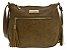 Bolsa de Couro feminina caqui Transversal Tamanho médio - Imagem 1