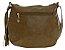 Bolsa de Couro feminina caqui Transversal Tamanho médio - Imagem 2