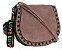 Bolsa Feminina de couro Ombro Rosa Pequena - Imagem 1