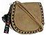 Bolsa Feminina de couro Ombro Bege Pequena - Imagem 1