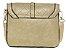 Bolsa Feminina de couro Ombro Bege Pequena Com carteira Grátis - Imagem 3