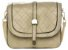 Bolsa Feminina de couro Ombro Bege Pequena Com carteira Grátis - Imagem 2