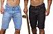 Bermuda Masculina Jeans Com Layca Slim Fit Original - Imagem 1