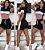 conjunto Feminino Short Blusa manguinha lançamento - Imagem 5