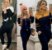 conjunto Feminino calça Blusa manga longa capuz preto com Rosa - Imagem 1