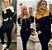 conjunto Feminino calça Blusa manga longa capuz preto com caramelo - Imagem 1