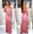 Vestido longo sereia renda Festa Rosé - Imagem 1