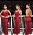 Vestido longo sereia renda Festa vermelho - Imagem 1