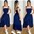 Vestido longo princesa Casual Rodado Alcinha Azul Marinho - Imagem 1