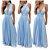 Vestido Festa Longo Azul Serenity  madrinha formatura multiformas  - Imagem 1