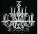 Lustre Candelabro Cristal Bohemia Viena 10 + 5 LUZES - Imagem 1