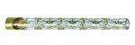 Piteira de Vidro Zeca Geladinho Geometria Gelada Dourada - Imagem 1