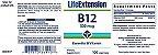 Vitamina B-12 500 mcg - Life Extension - 100 Pastilhas - Imagem 2