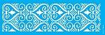 ESTENCIL 10X30 ARABESCO CORACAO OPA2909 - Imagem 1