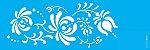 ESTENCIL 10X30 FLOR BAUER I OPA2329 - Imagem 1