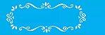 ESTENCIL 10X30 MOLDURA ARABESCO OPA716 - Imagem 1