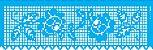 ESTENCIL 10X30 NEG. BARRADO CROCHE OPA2616 - Imagem 1