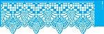 ESTENCIL 10X30 NEGATIVO RENDA VIII OPA2682 - Imagem 1