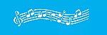ESTENCIL 10X30 NOTAS MUSICAIS OPA 040 - Imagem 1