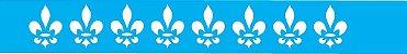 ESTENCIL 4X30 BORDA FLOR DE LIZ OPA448 - Imagem 1