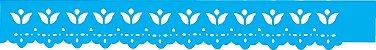 ESTENCIL 4X30 BORDADO TULIPAS OPA348 - Imagem 1
