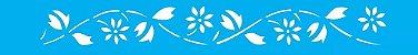 ESTENCIL 4X30 FLORES MARGARIDAS I OP194 - Imagem 1