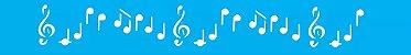 ESTENCIL 4X30 NOTAS MUSICAIS OPA230 - Imagem 1